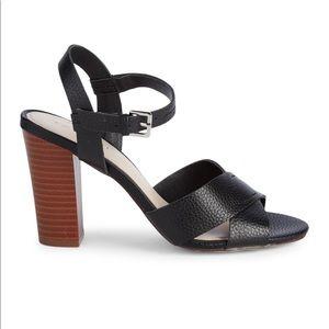 Tahari Women's Peep Toe Stacked-Heel Sandals